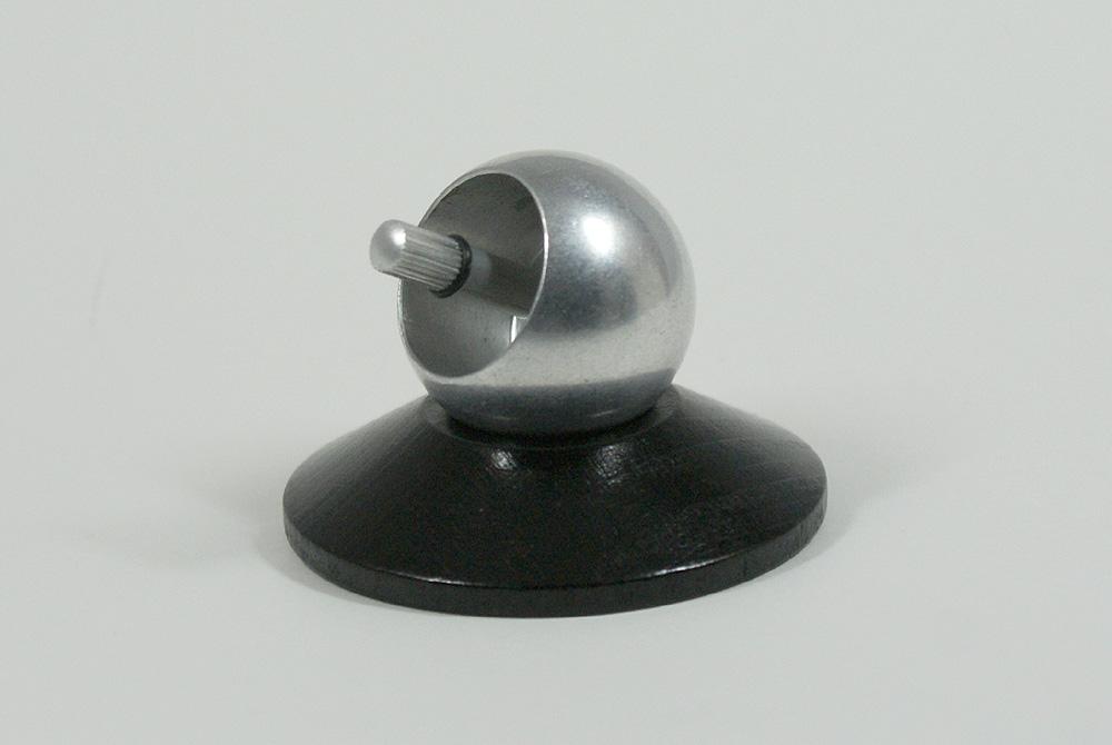 Aufstehkreisel mit Auflageständer Holz Wendekreisel Umdrehkreisel Aluminium