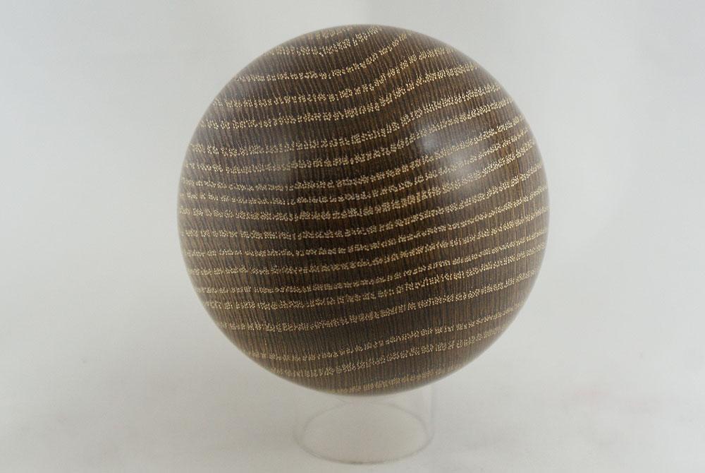 kugel eichenholz ger uchert und gekalkt ca 7 1 cm. Black Bedroom Furniture Sets. Home Design Ideas